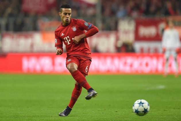 bayern 39 s thiago alcantara the anatomy of a technically perfect midfielder bleacher report. Black Bedroom Furniture Sets. Home Design Ideas