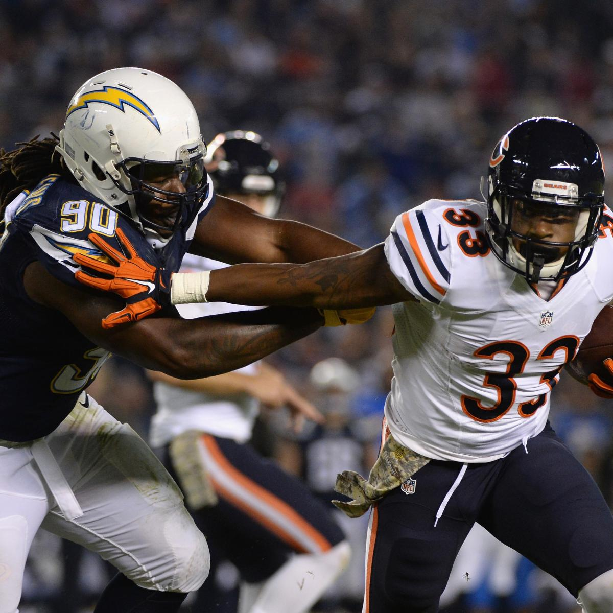 San Diego Chargers Current Score: Chicago Bears Vs. San Diego Chargers: Live Score