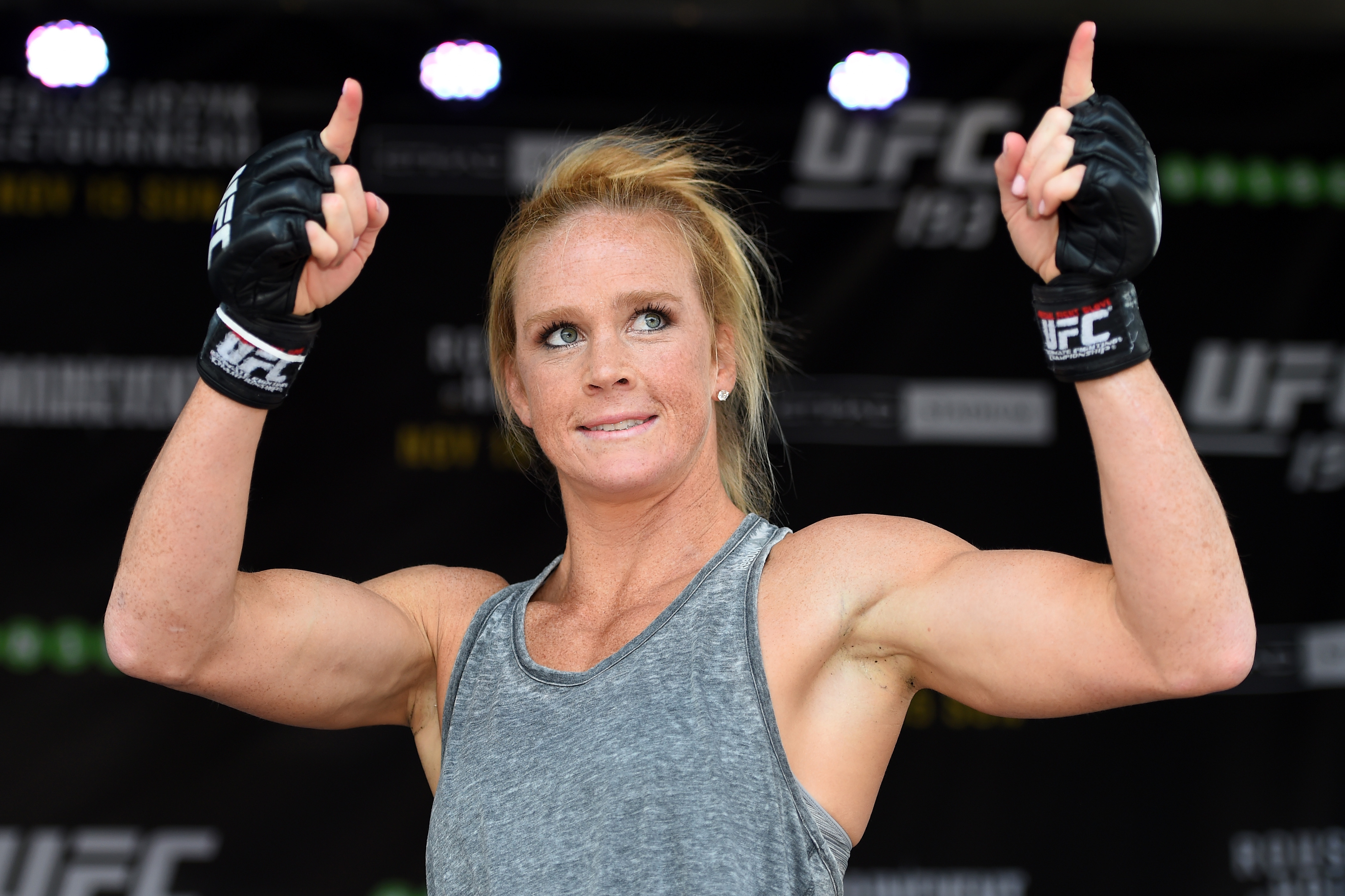 New UFC Champion Holly Holm Hangs out with Jamie Foxx ...