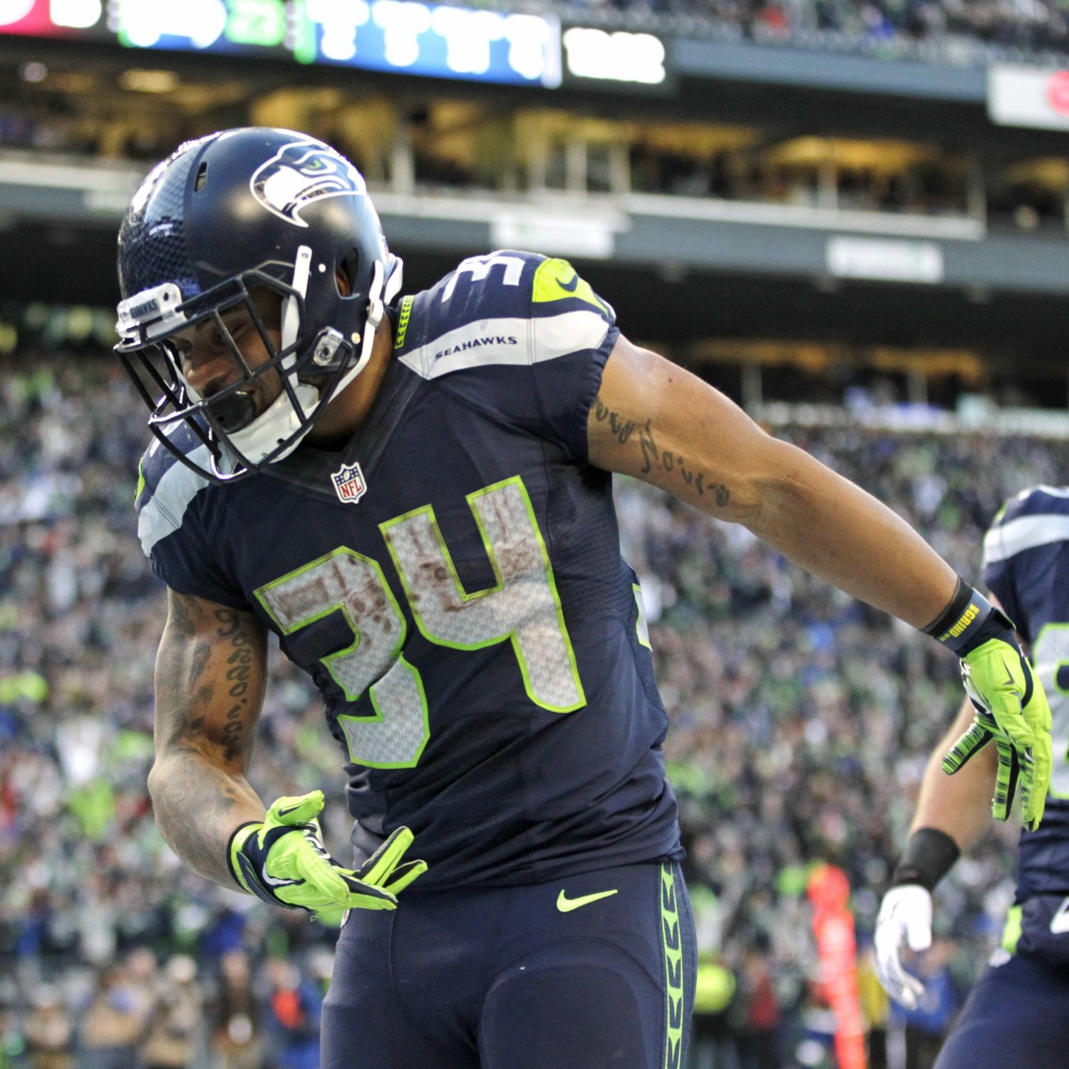 Nike NFL Mens Jerseys - Russell Wilson, Thomas Rawls Give Seahawks Playoff Hope in Huge ...