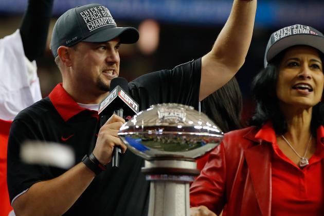 Peach Bowl 2015: Houston's Tom Herman Proves He's 1 of the Best in Win over FSU