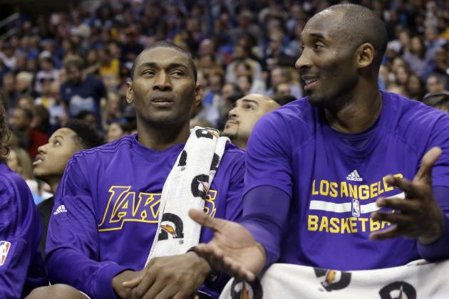 Metta World Peace Playing Unlikely Wingman Role for Kobe Bryant Yet Again