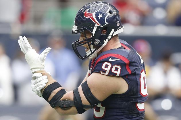 Watt Becomes 2nd Player to Lead NFL in Sacks Twice in 1st 5 Seasons