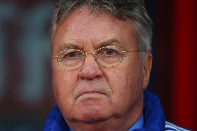 Chelsea vs. Scunthorpe: Guus Hiddink Talks Diego Costa, Oscar Bust-Up in Presser