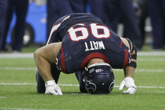 J.J. Watt Injury Update: Texans DE Announces Date for Groin Surgery