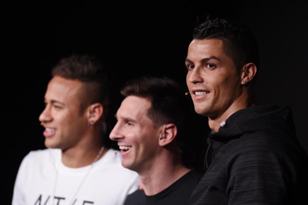 Lionel Messi, Neymar, Cristiano Ronaldo Headline 2015 FIFA FIFPro World XI Team
