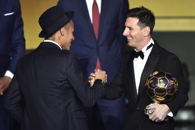 Neymar Reveals Advice Received from Lionel Messi at 2015 Ballon d'Or Gala
