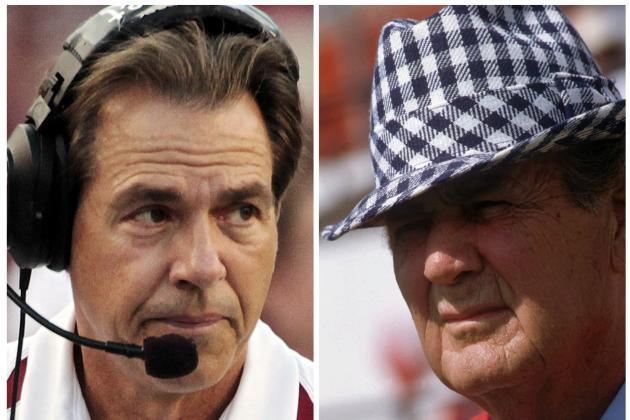Nick Saban vs. Bear Bryant: Who Is the Best Alabama Coach?