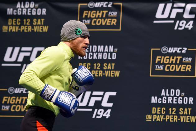 Conor McGregor Posts Videos of Training Workout for Rafael dos Anjos Fight