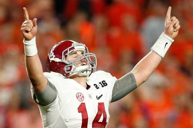 How Jake Coker Compares to Alabama's Top QBs of All Time
