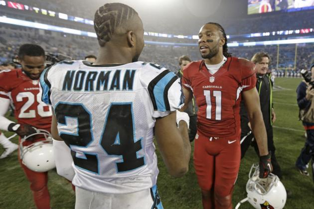 Panthers Secondary Faces Toughest Test of Season vs. Cardinals in NFC Title Game