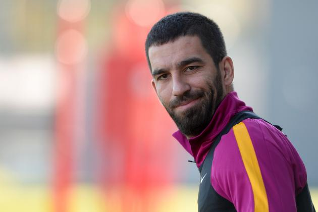 Arda Turan Jokes That Barcelona Players Are Scared He'll Throw a Shoe at Them