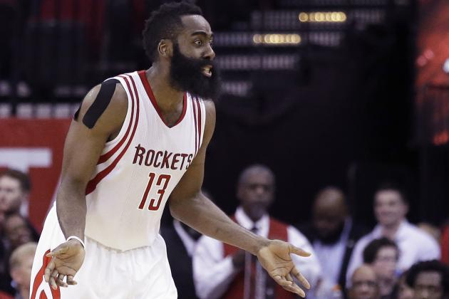 Harden Posts Historic Triple-Double, Makes 1,000th 3-Pointer