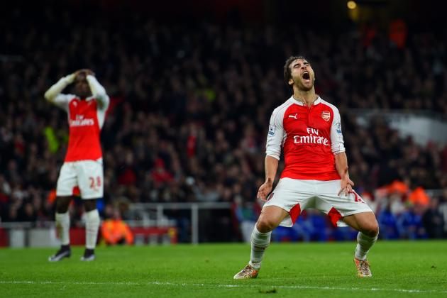 Arsenal's Mathieu Flamini Loses His First-Ever Match Started at the Emirates