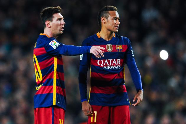 Lionel Messi vs. Neymar: Comparing Their 2015/16 Barcelona Stats so Far