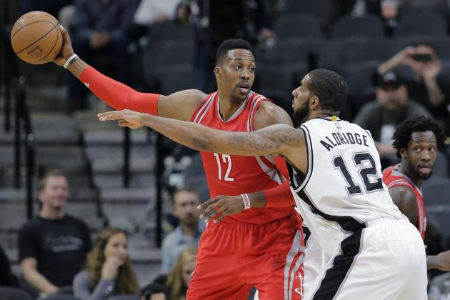 Howard Loses Streak of 16 Double-Doubles Against Spurs