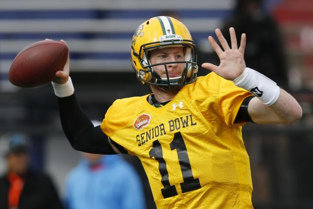 2016 Senior Bowl Scouting Notebook: Much-Hyped Carson Wentz Shines in Practice