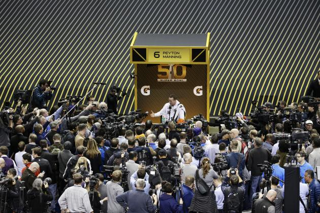 Peyton Manning Talks Retirement, HGH Allegations at Super Bowl 50 Opening Night