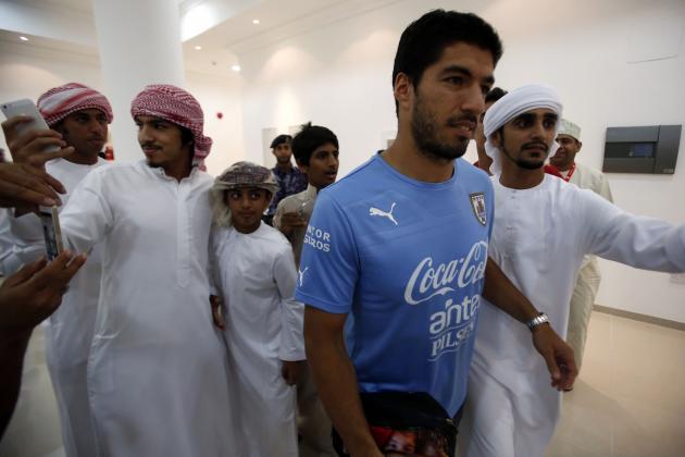 Luis Suarez to Make Uruguay Return vs. Brazil After Giorgio Chiellini Bite Ban