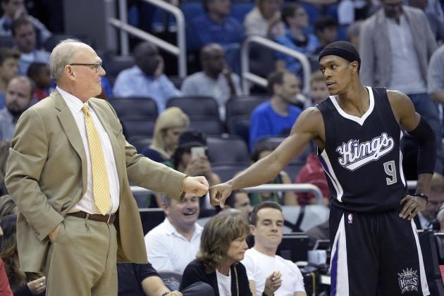 George Karl Discusses Rajon Rondo Before Kings vs. Celtics