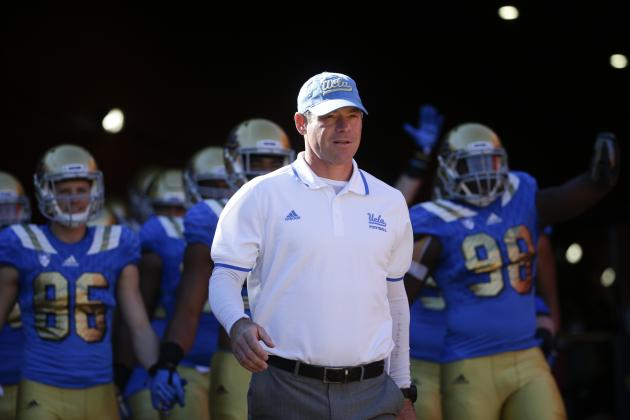 Rick Neuheisel Responds to Jim Mora's Comments About 'Soft' UCLA Team