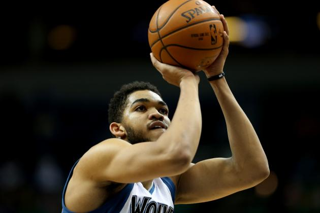 Towns Becomes 2nd Timberwolves Rookie to Put Up 35 and 10