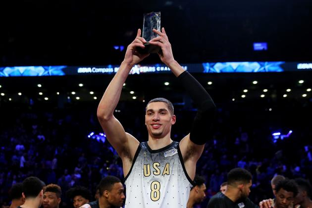 Zach LaVine Named MVP for 2016 USA vs. World Rising Stars Challenge