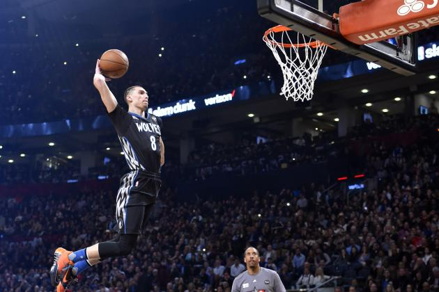 Zach LaVine Wins 2016 NBA Slam Dunk Contest: Scores, Highlights and Reaction