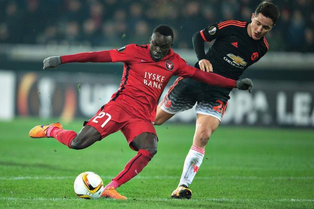 Midtjylland vs. Manchester United: 2016 Europa League Round of 32, Leg 1 Score
