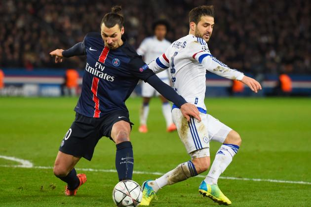Cesc Fabregas, Zlatan Ibrahimovic Confrontation Reported After PSG vs. Chelsea
