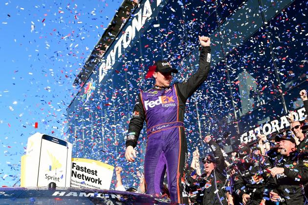 Denny Hamlin Celebration Highlights, Reaction After 2016 Daytona 500 Win