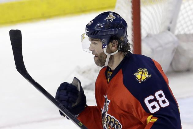 Jaromir Jagr Passes Brett Hull for 3rd All-Time on NHL Goals List