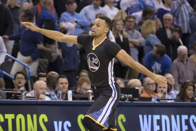 Stephen Curry Ties NBA Single-Game Record for 3-Pointers vs. Thunder