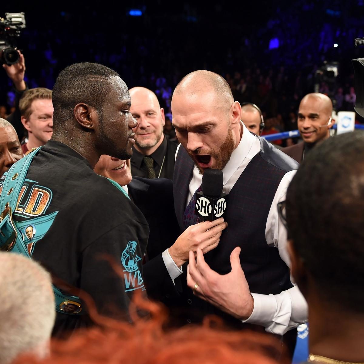 Tyson Fury Hits Out At Anthony Joshua And Deontay Wilder