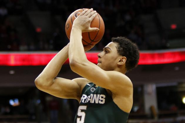 Bryn Forbes Sets Big Ten Record for Most 3-Pointers in a Game vs. Rutgers