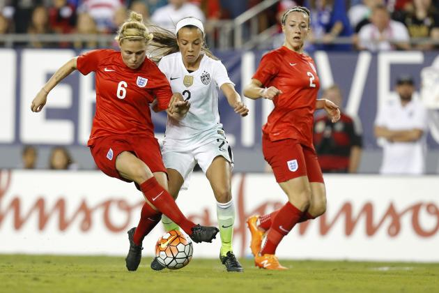 USA vs. England Women's Soccer: Score, Twitter Reaction for SheBelieves Cup 2016