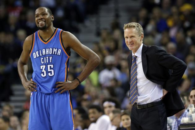 Steve Kerr Comments on Discussion with Kevin Durant During Warriors vs. Thunder