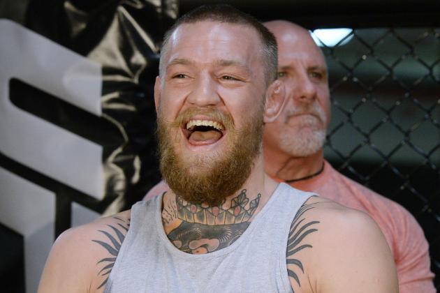 Conor McGregor Vows to 'Ping' Nate Diaz with Capoeira Kick on Conan O'Brien Show