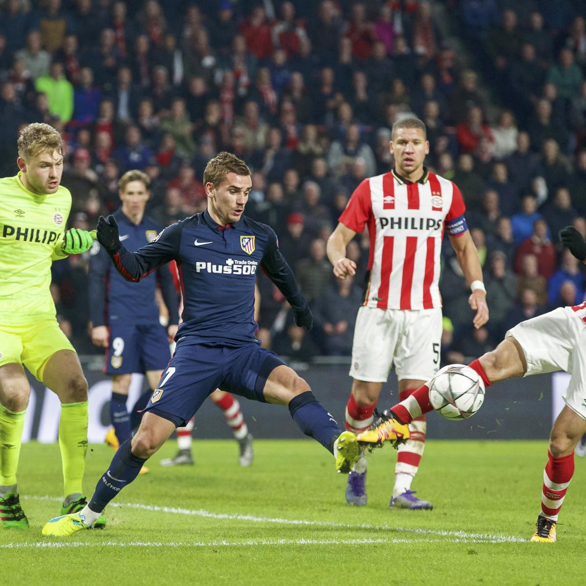 Atletico Madrid vs. PSV Eindhoven: Team News, Preview, Live Stream, TV Info  | Bleacher Report | Latest News, Videos and Highlights