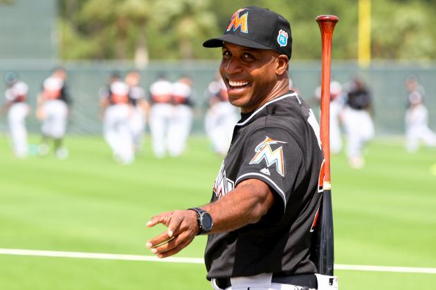 Barry Bonds Reportedly Beats Giancarlo Stanton, Marlins in HR Derby at Camp