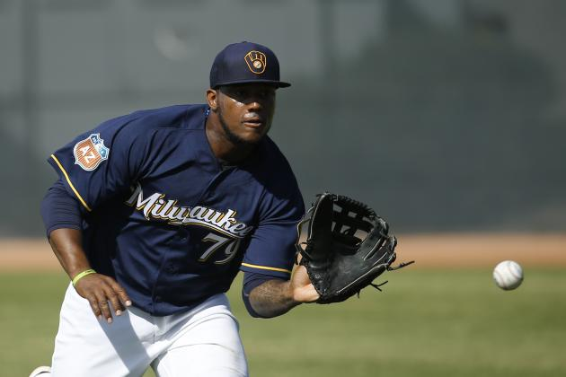 Rymer Liriano Injury: Updates on Brewers OF After Getting Hit in Face by Pitch