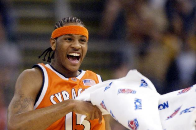 Carmelo Anthony Celebrates Syracuse's Win over Virginia on Snapchat