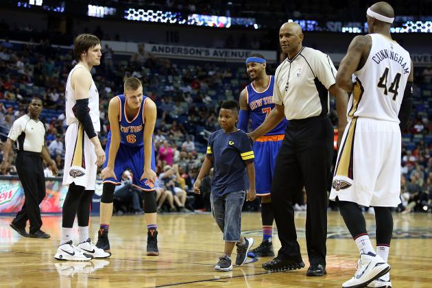 Carmelo Anthony Comments on Child Hugging Him on Court