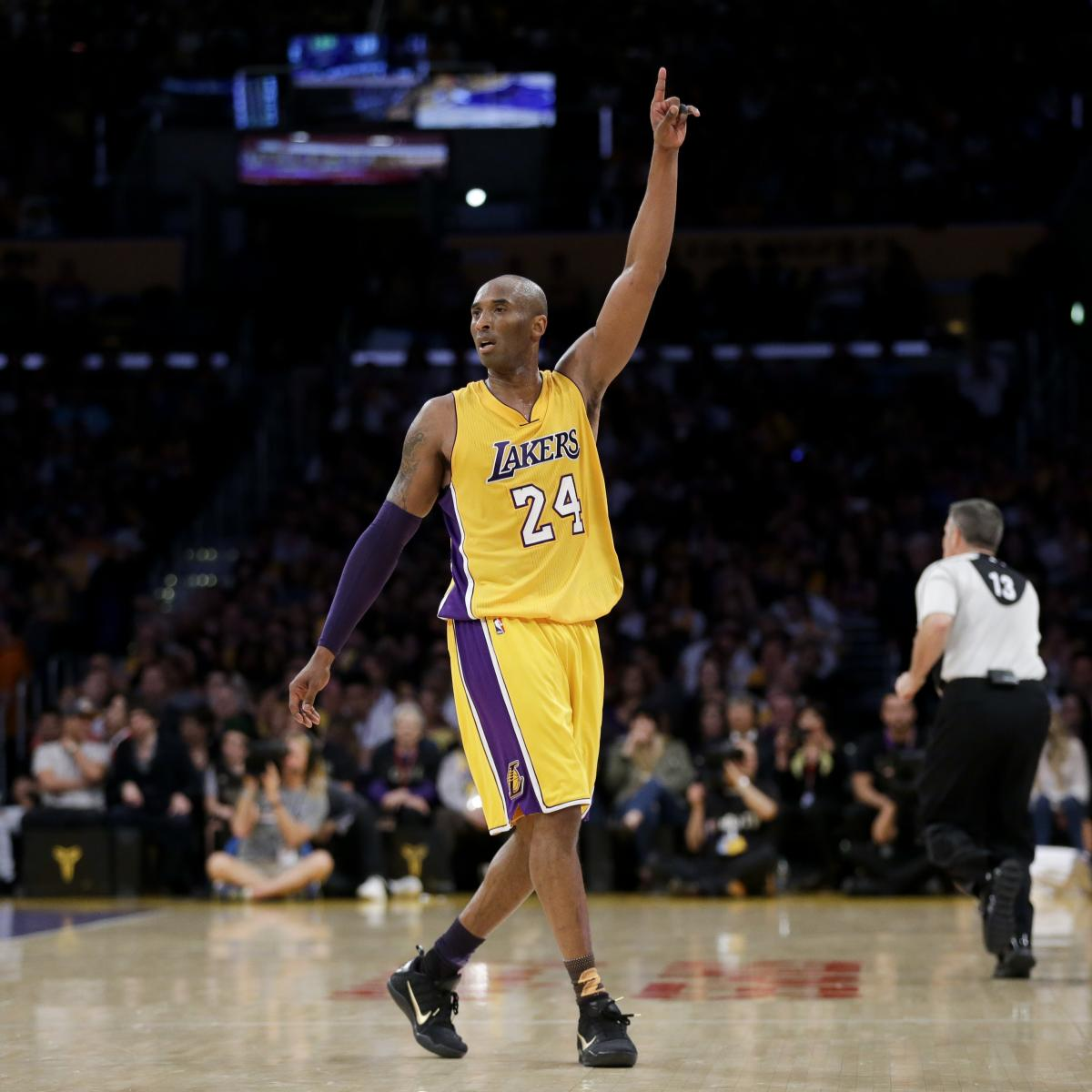 Kobe Bryant's Stats, Highlights And Reaction From Final ...