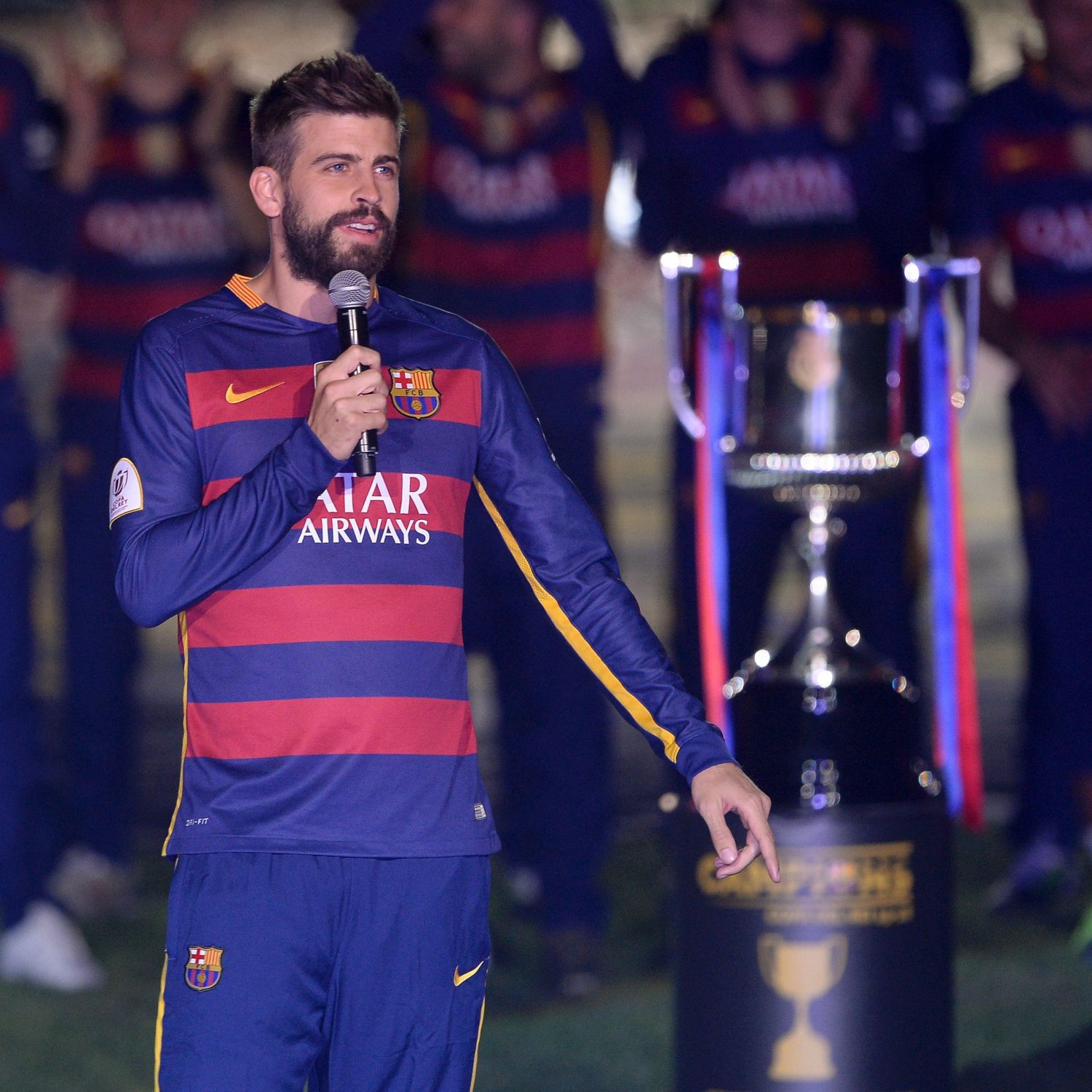 Image result for GERARD PIQUE WON LIGA