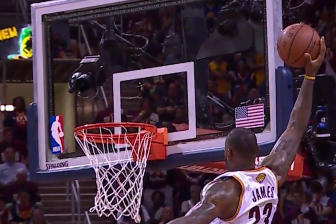 LeBron James Hammers 1-Handed Alley-Oop Dunk off Lob from ...