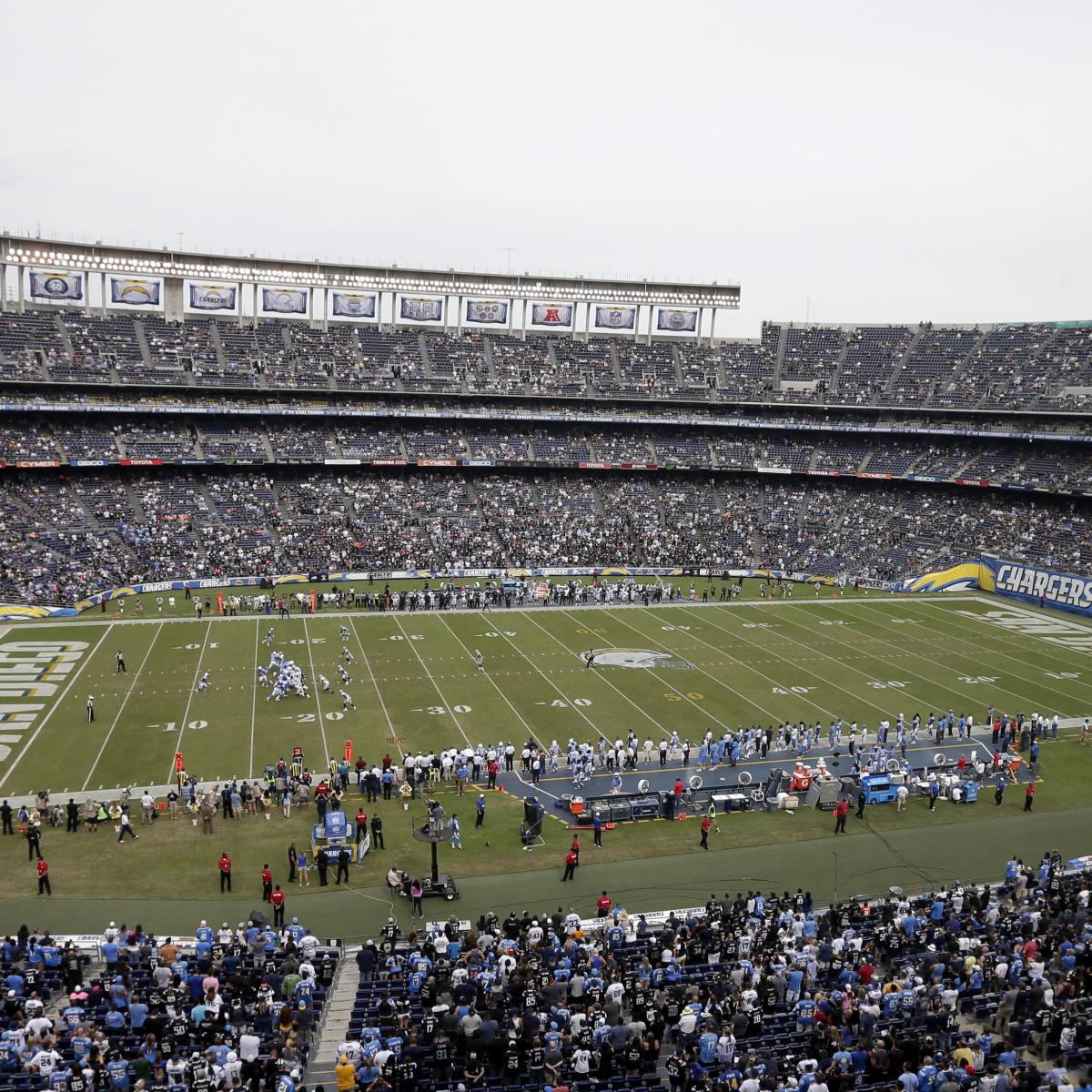 San Diego Chargers Football Field: Chargers' New Stadium Proposal: Latest News And Rumors On