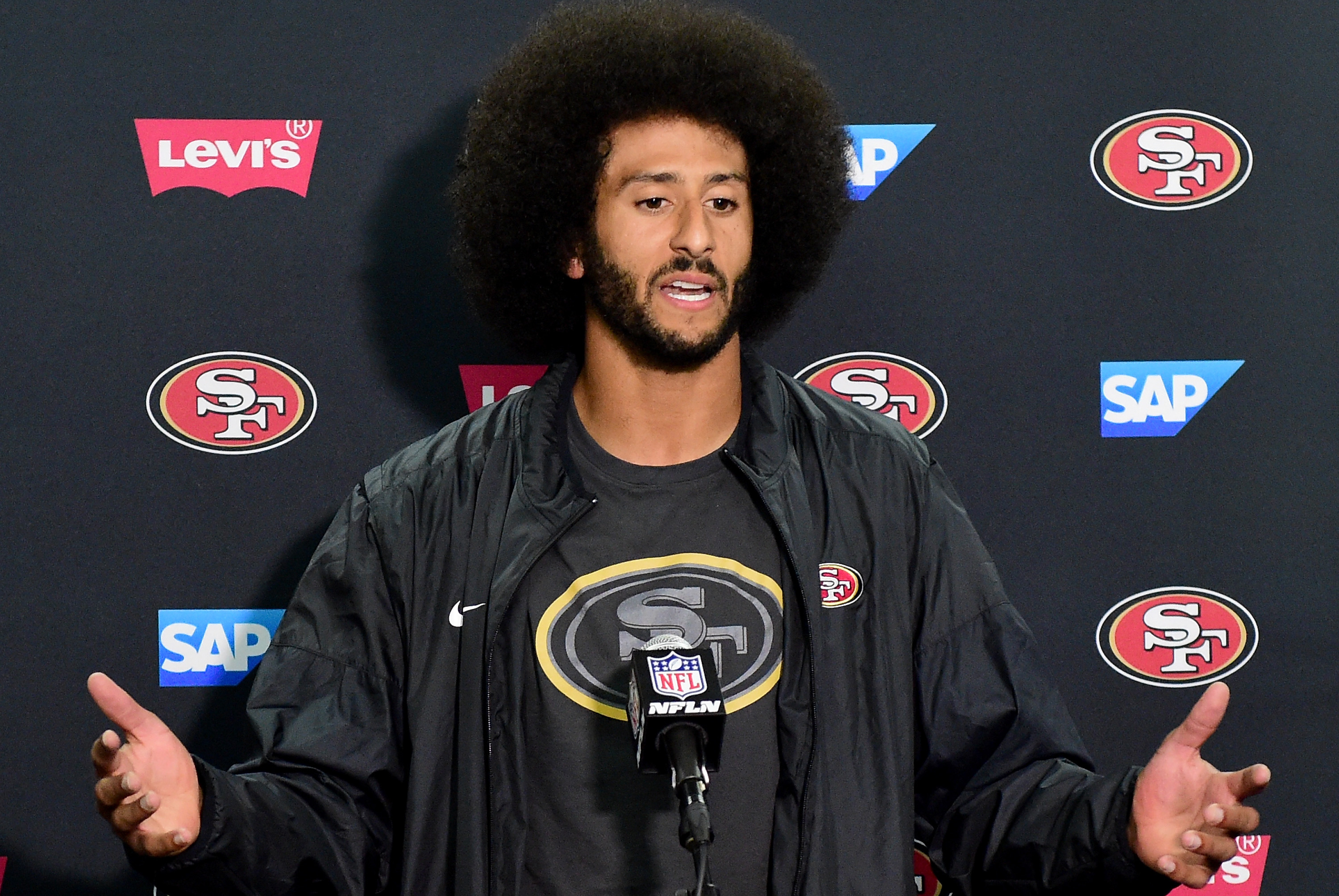 NFL Jerseys Official - Colin Kaepernick Thanked Jeremy Lane for Sitting During National ...