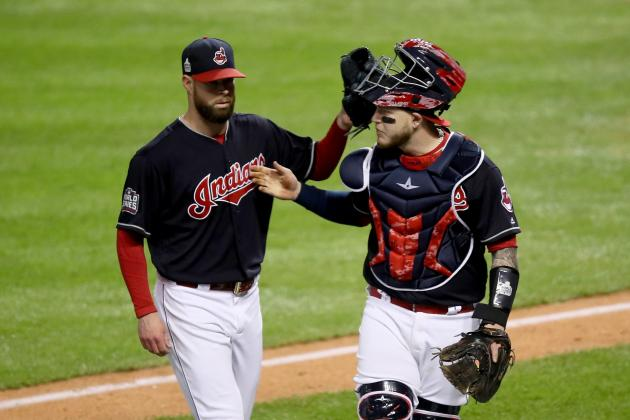 cubs indians series score game reaction shaw ezra getty