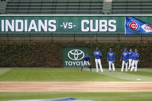 cubs indians score vs series highlights game huh nam